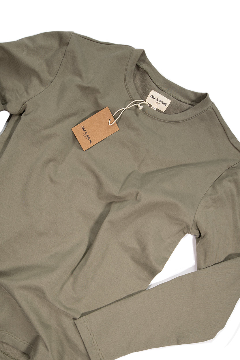 The Classic L/S Tee - Olive - Oak & Stone Clothing Co.