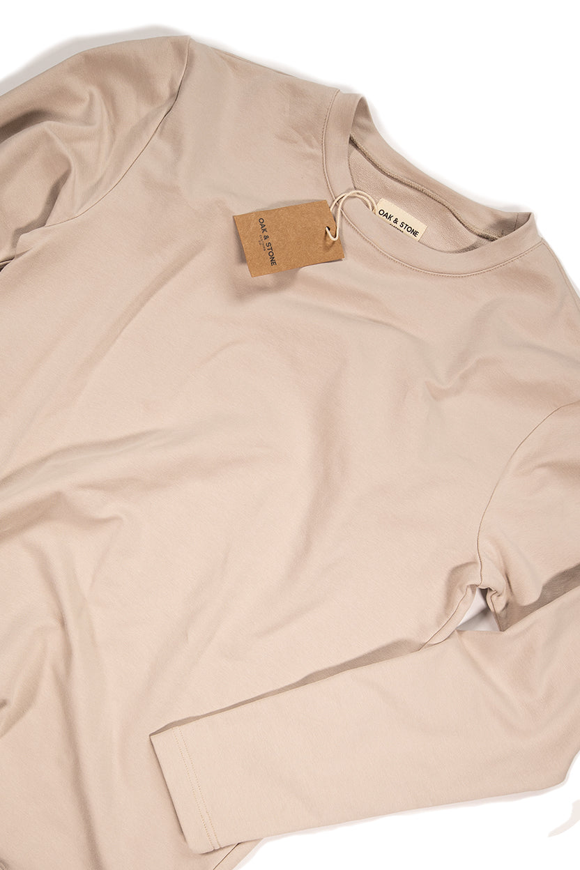The Classic L/S Tee - Tan - Oak & Stone Clothing Co.