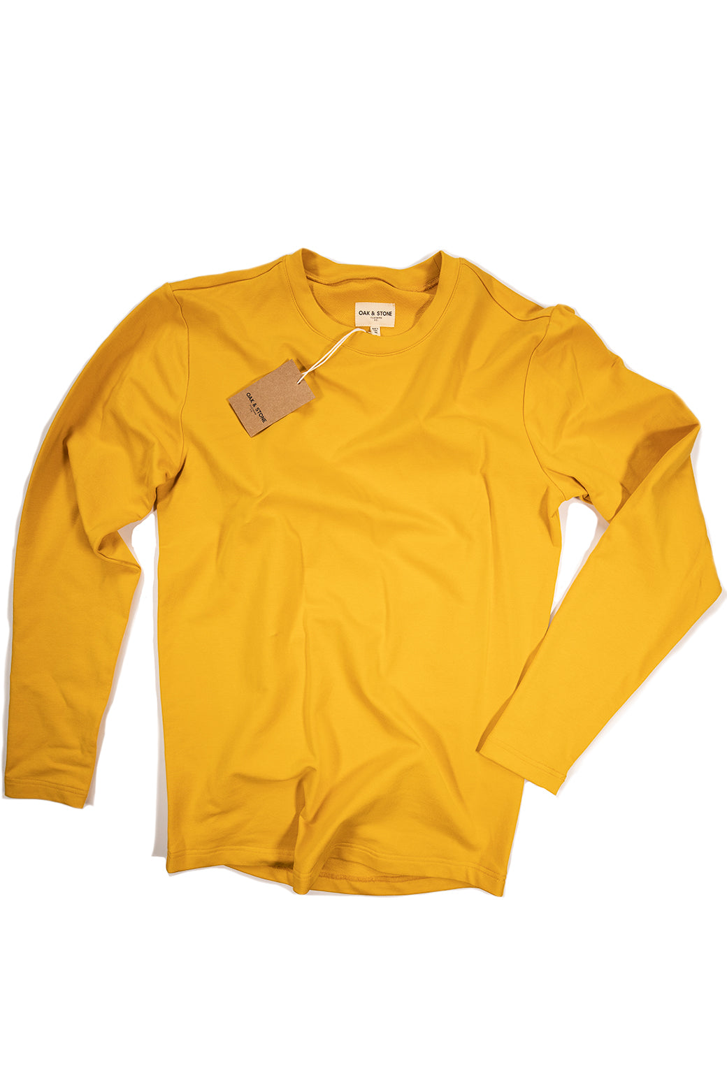The Classic L/S Tee - Mustard - Oak & Stone Clothing Co.