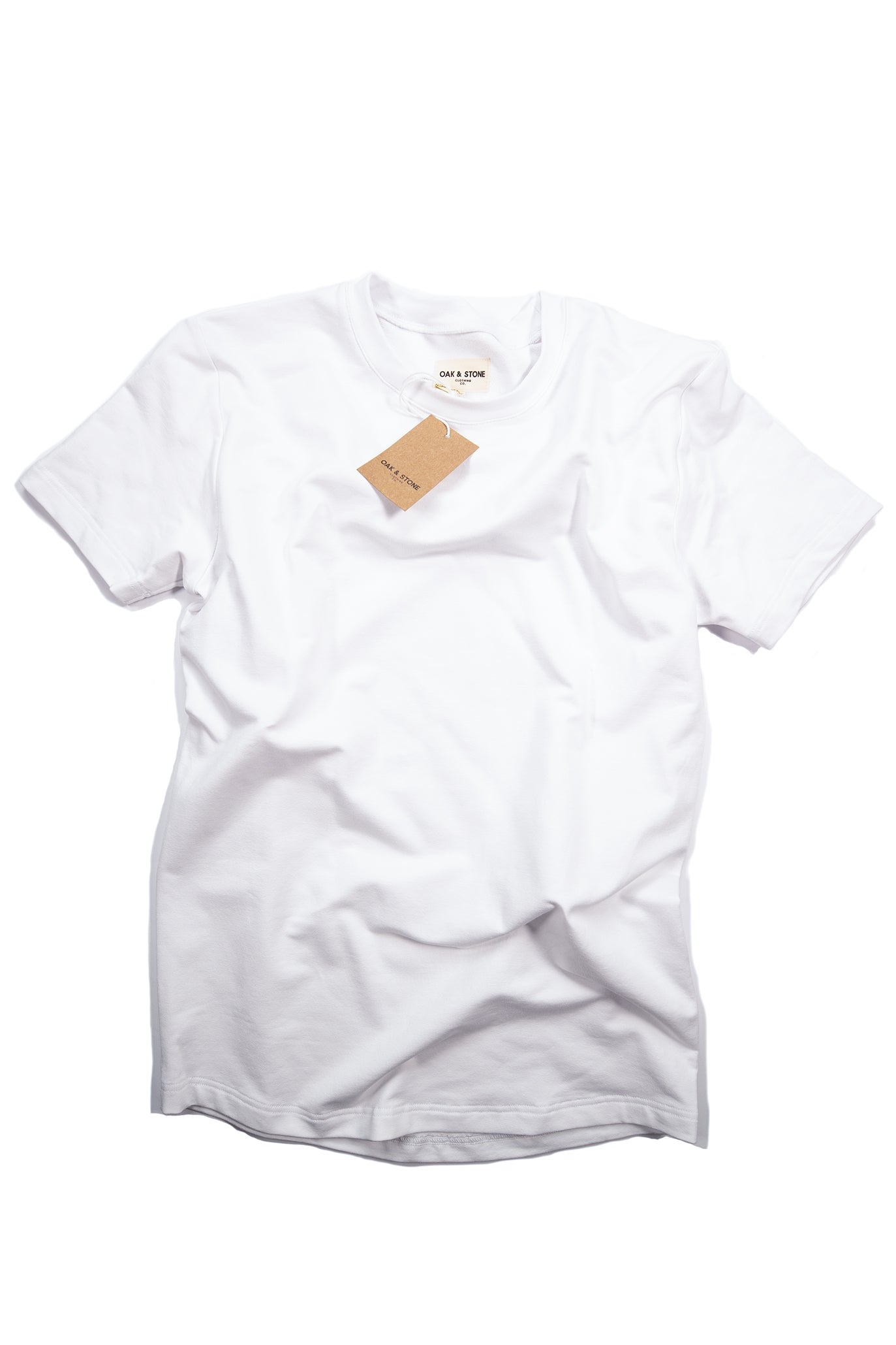 The Classic S/S Tee - White - Oak & Stone Clothing Co.
