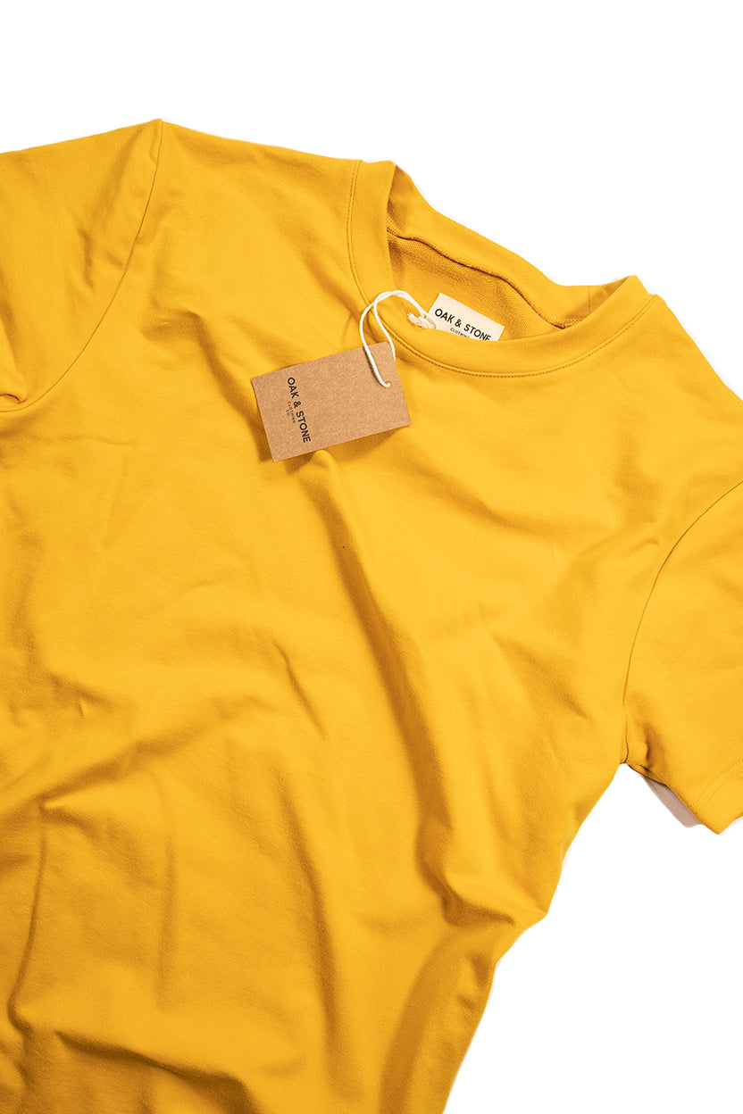 The Classic S/S Tee - Mustard - Oak & Stone Clothing Co.