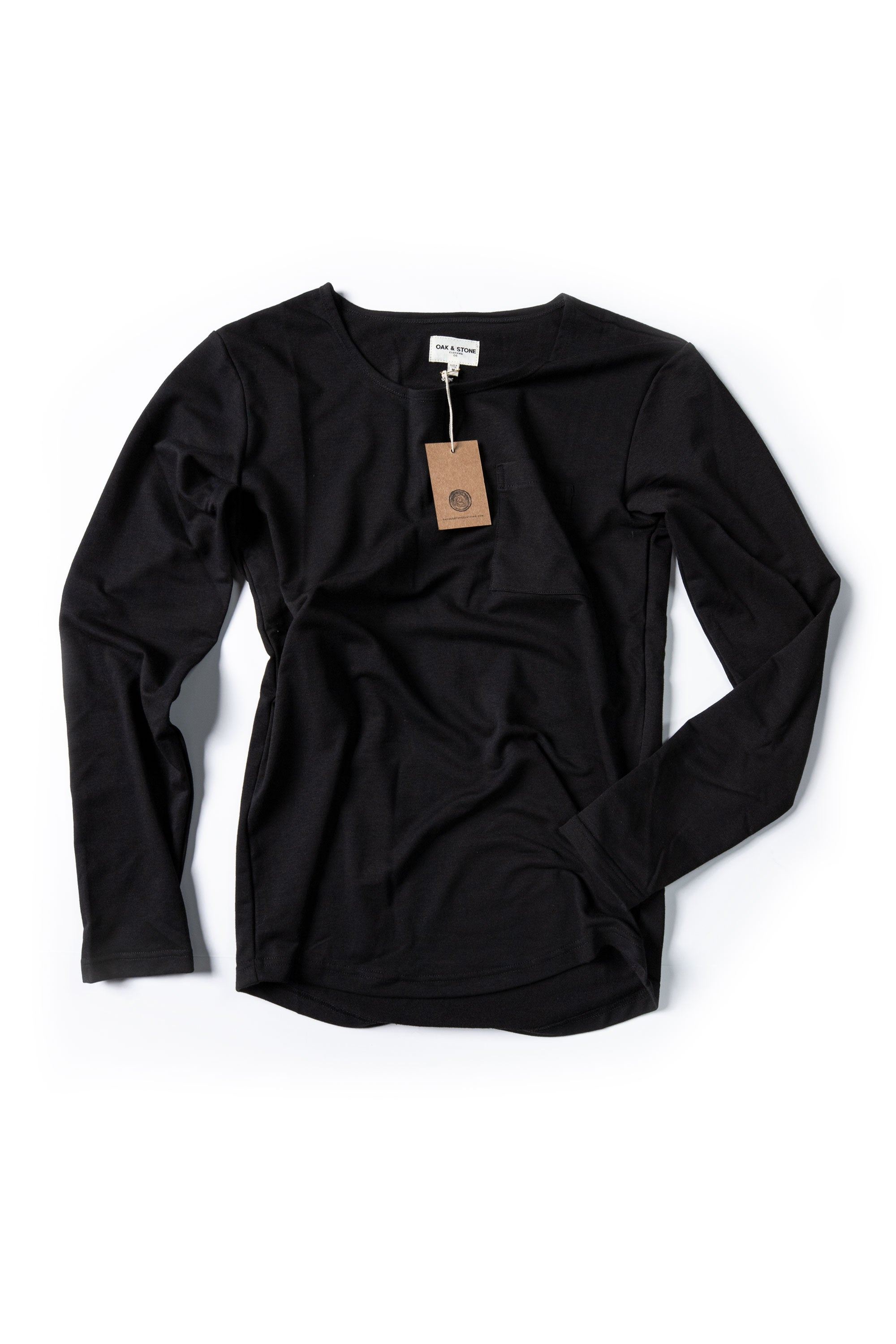 The Classic L/S Curve - Black - Oak & Stone Clothing Co.