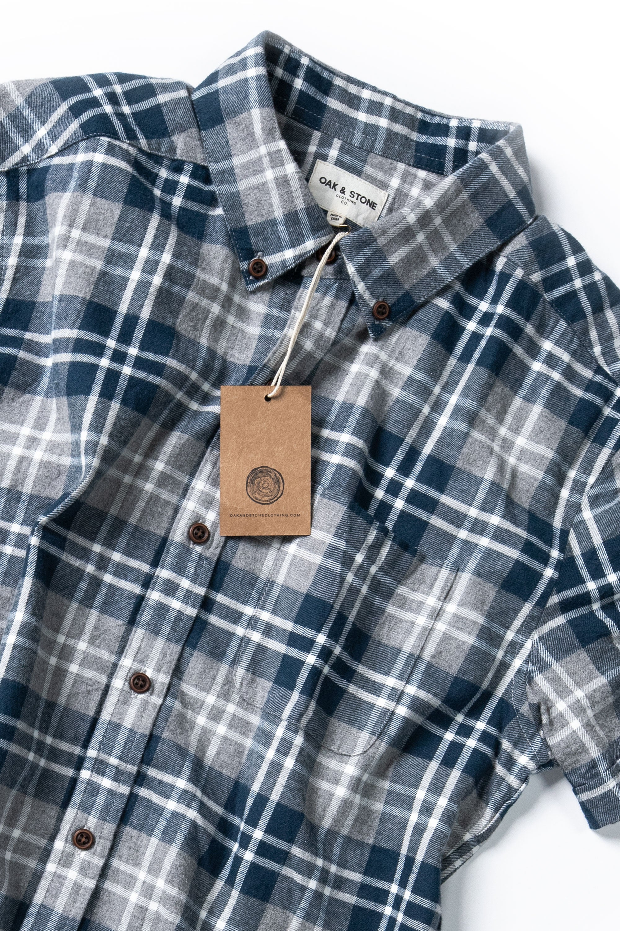 The Essential S/S - Blue - Oak & Stone Clothing Co.