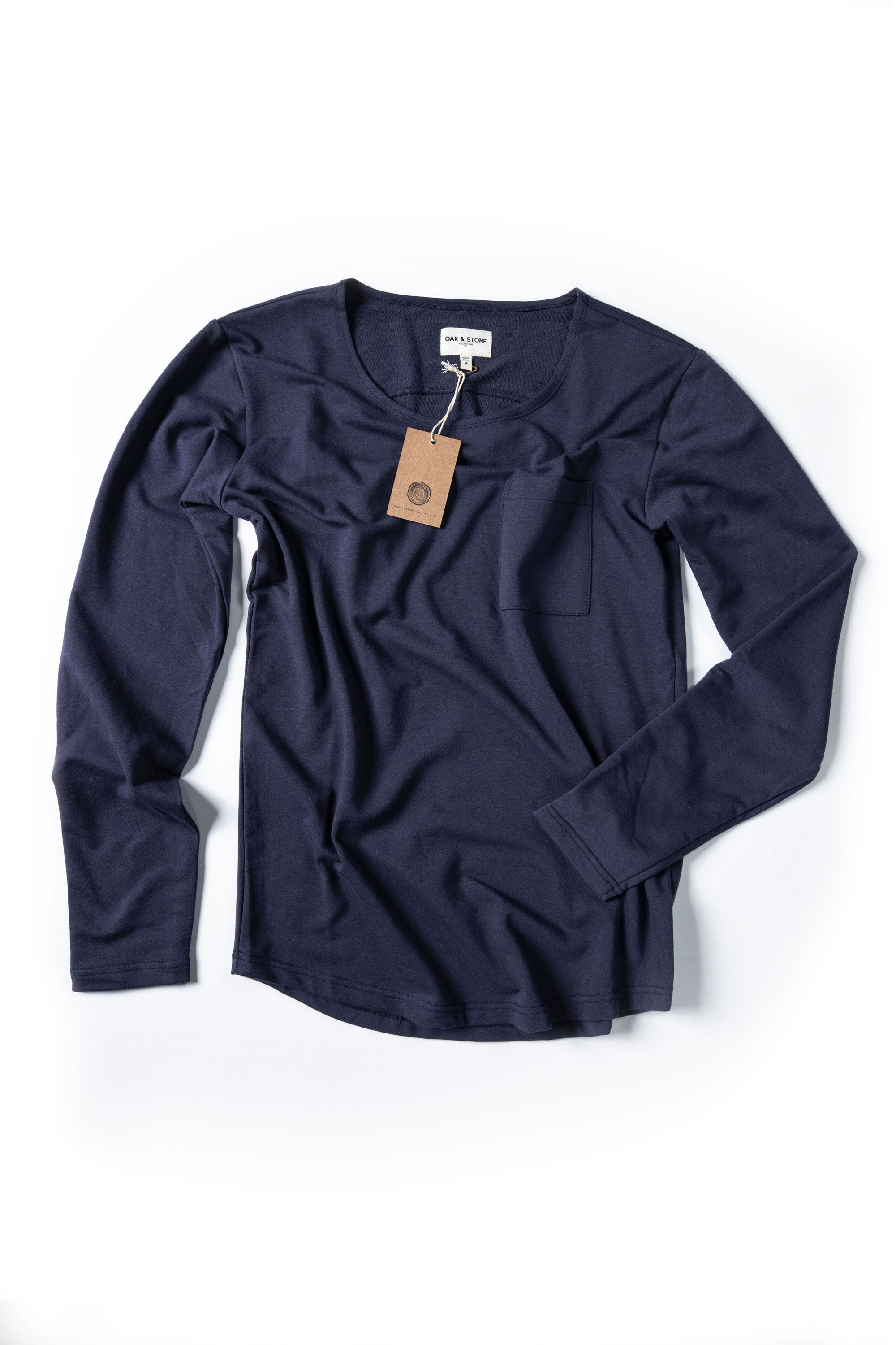 The Classic L/S Curve - Blue - Oak & Stone Clothing Co.