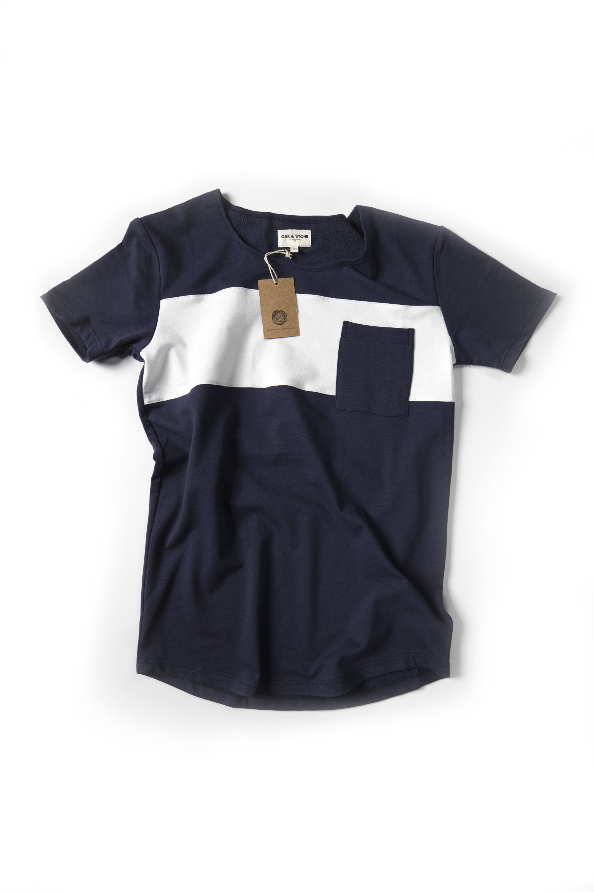 Bar Pocket Tee - Blue - Oak & Stone Clothing Co.