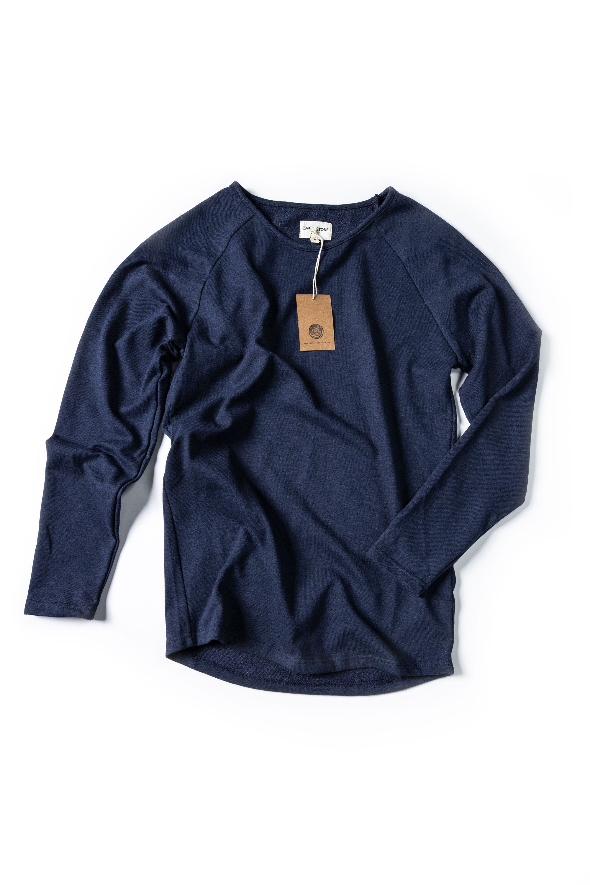 Terry Sweater - Heathered Blue - Oak & Stone Clothing Co.