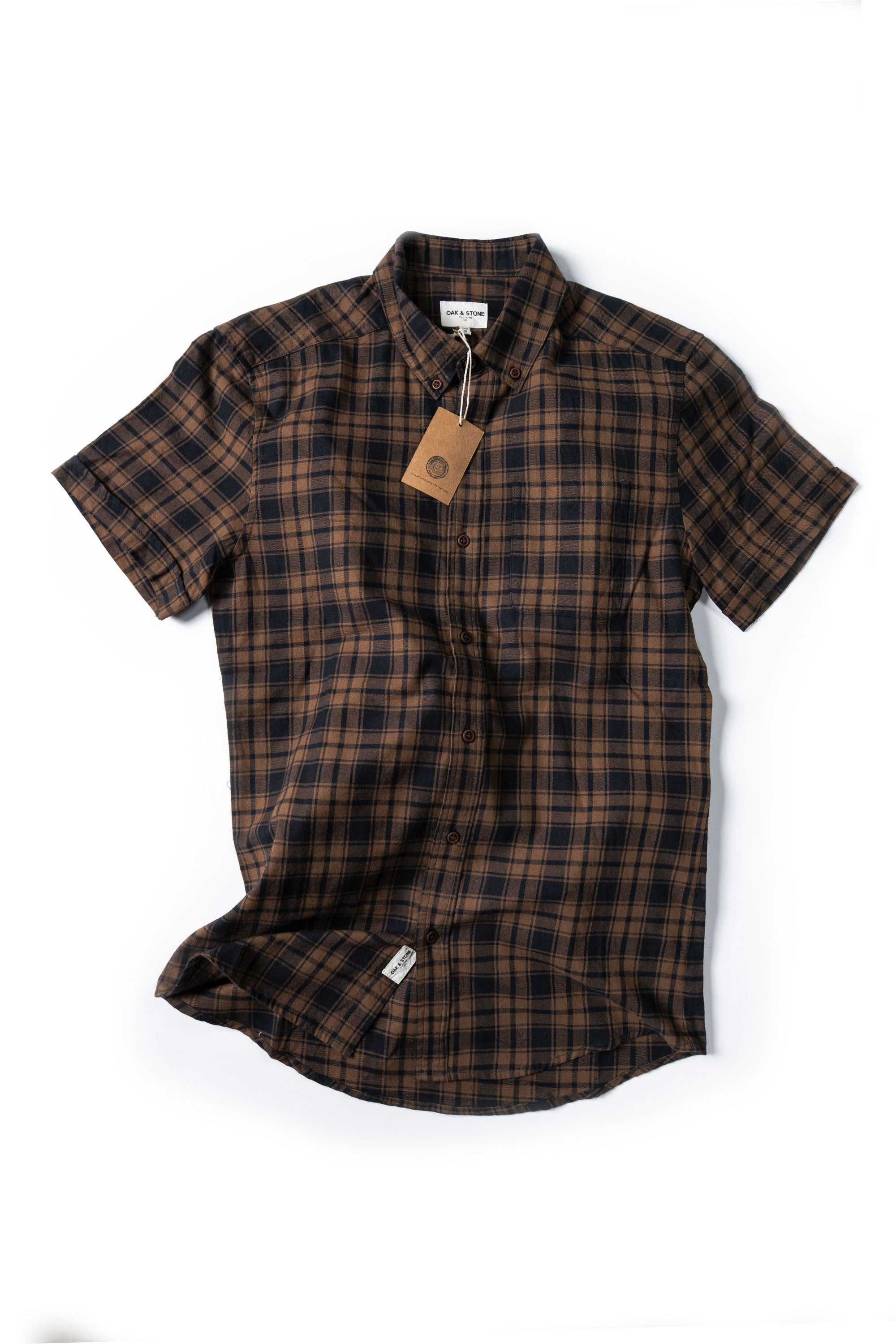 The Essential S/S - Brown - Oak & Stone Clothing Co.