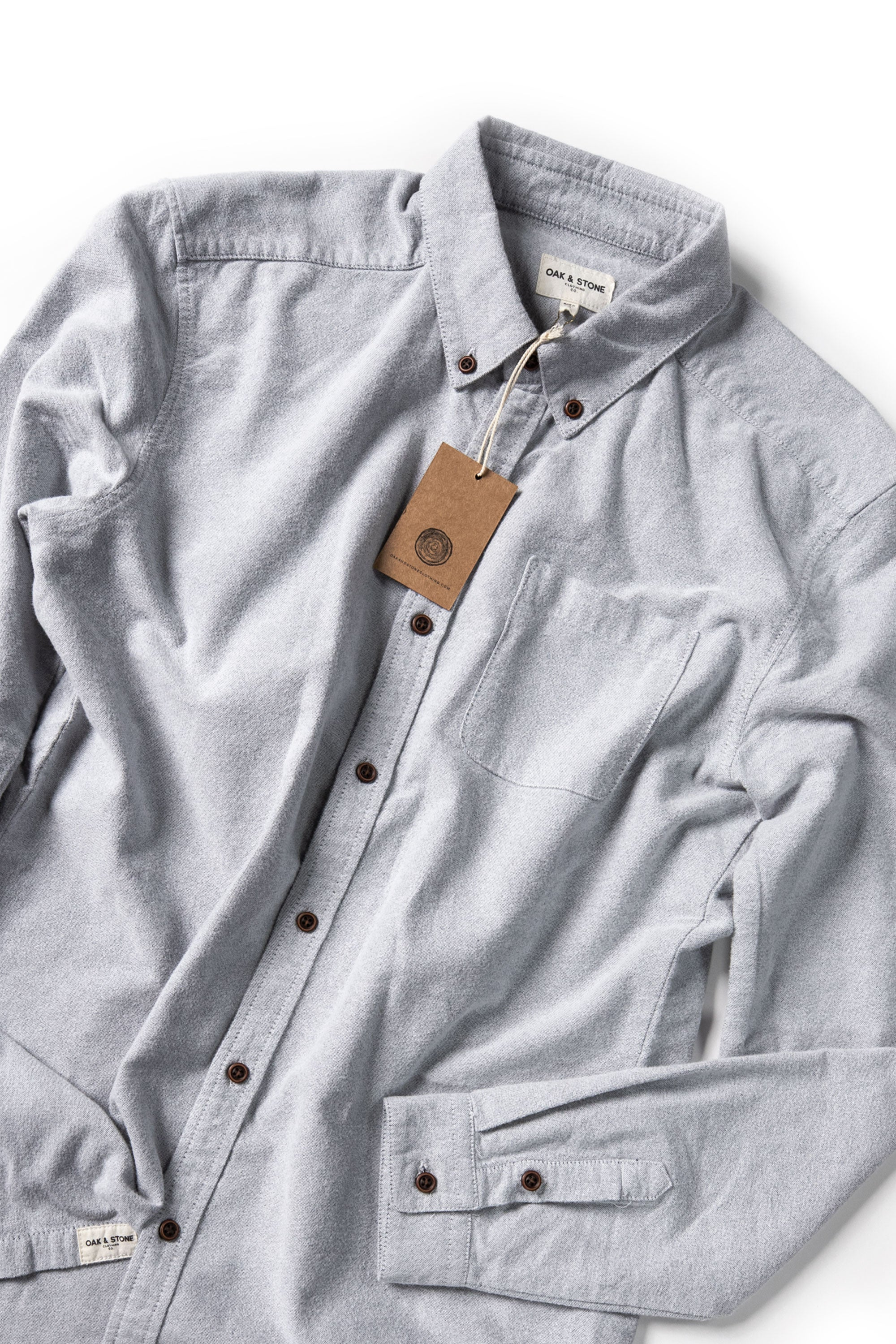 The Essential L/S - Grey - Oak & Stone Clothing Co.