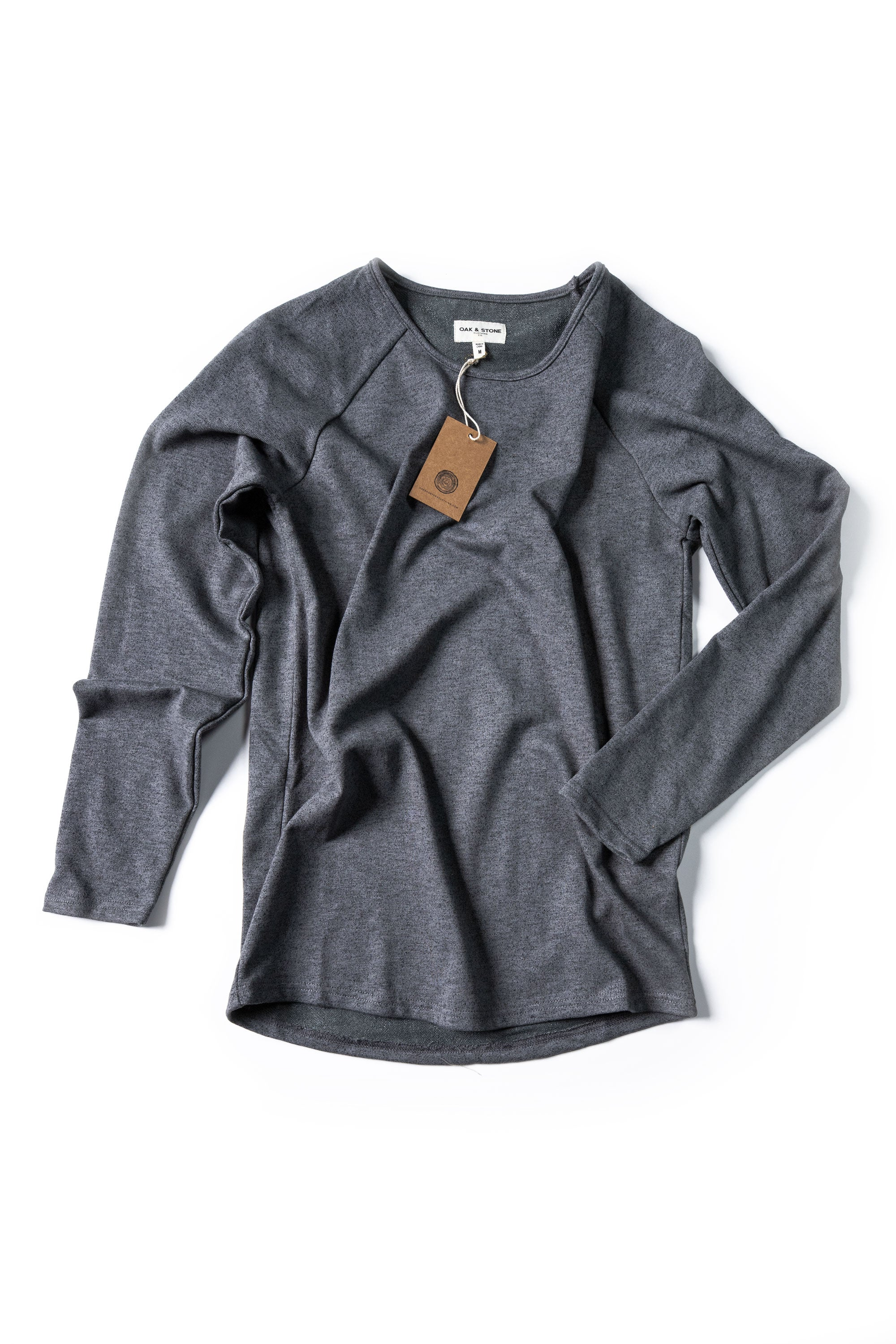 Terry Sweater - Heathered Grey - Oak & Stone Clothing Co.