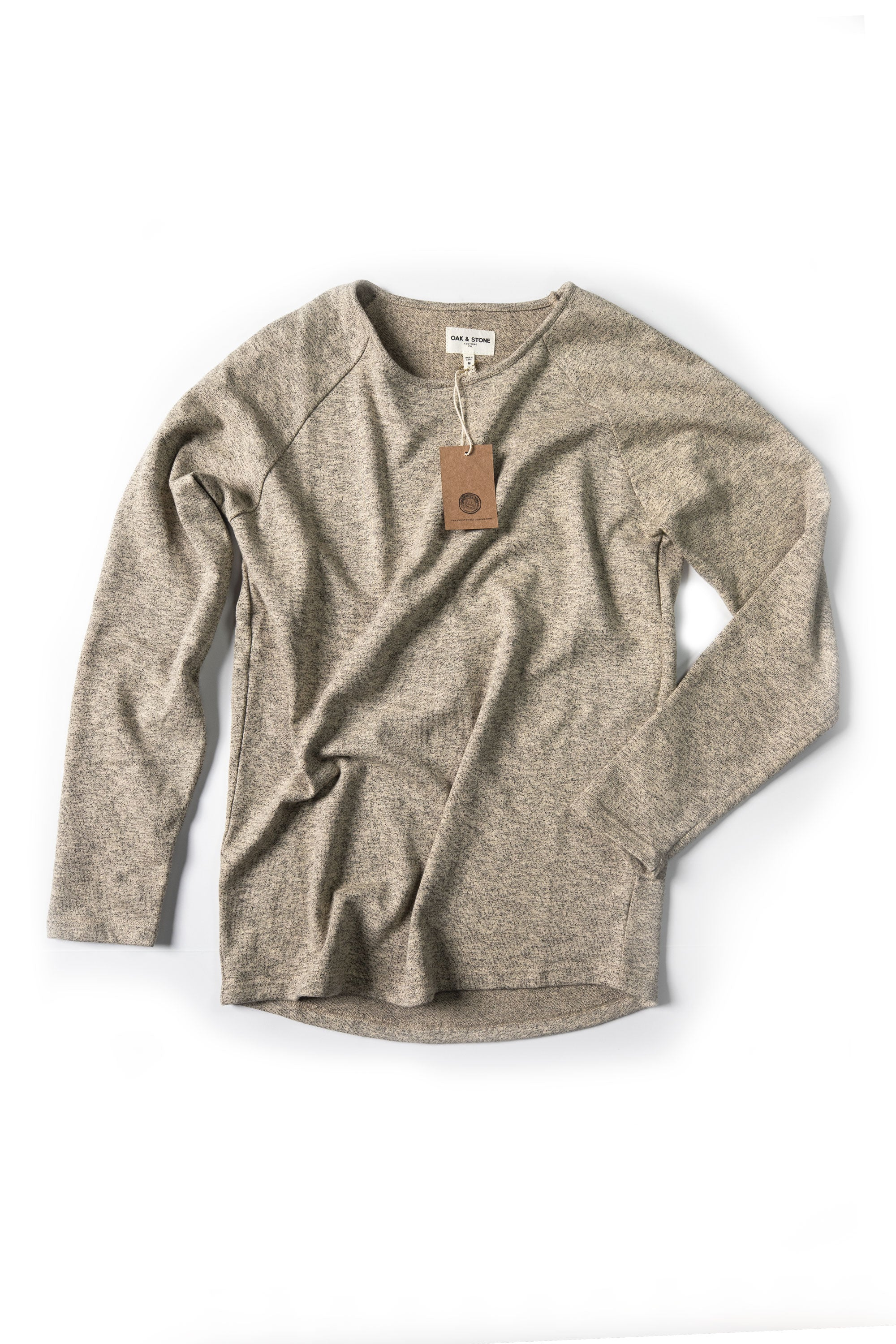 Terry Sweater - Heathered Tan - Oak & Stone Clothing Co.