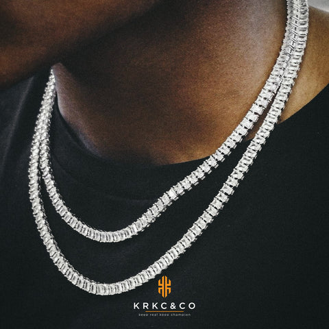 baguette-cut tennis chain from KRKC&CO