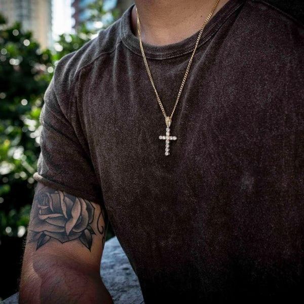 $66.09 Off on KRKC Iced Out Cross Pendant