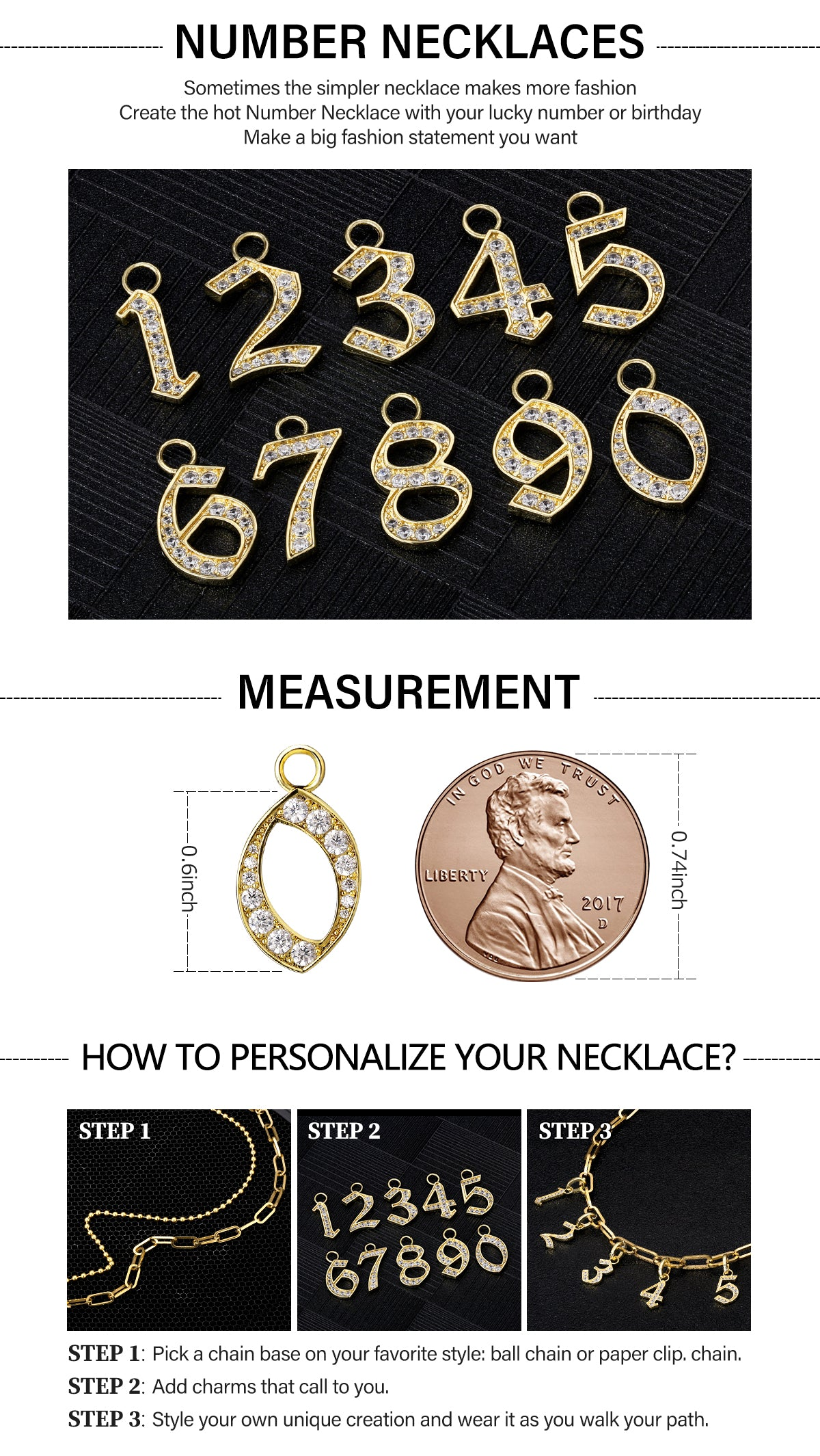 Personalized Numbers Necklace KRKC&CO