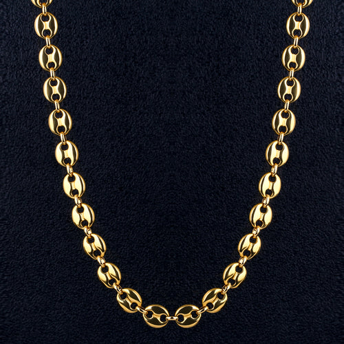 10mm G-Link Chain in 14K Gold-KRKC&CO