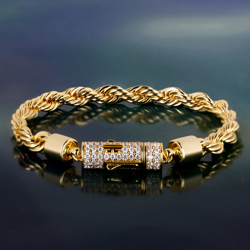 6mm Rope Bracelet in 14K Gold-krkcom