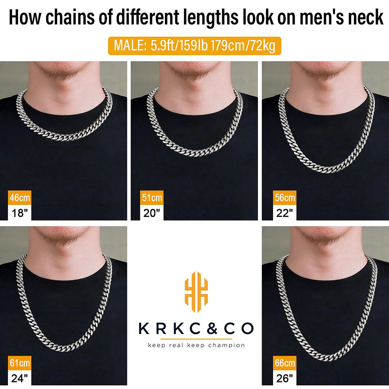 12mm Miami Cuban Link Chain in White Gold for Men's Chain-BOGO KRKC