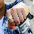 14K Gold Iced Out Cuban Link Ring-krkcom