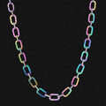 10mm Rainbow Iced Cable Chain - KRKC&CO