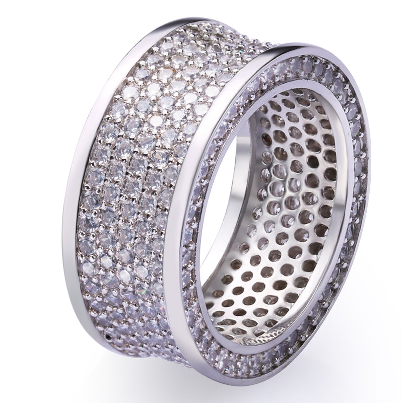 Iced Infinity Ring White Gold Plated-krkcom