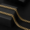 5.5mm Miami Cuban Link Chain 14K Gold Plated-krkcom
