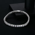 4mm 925 Sterling Silver Tennis Bracelet White Gold Plated-krkcom