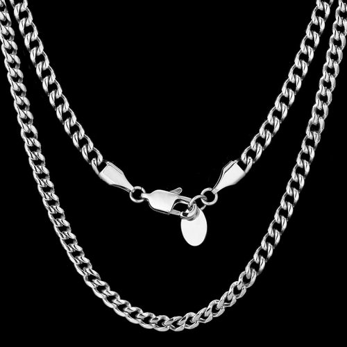6mm Miami Cuban Link Chain White Gold Plated-krkcom