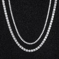 White Gold Tennis Chains Set (5MM 24''+3MM 22'')-krkcom
