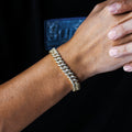 10mm Iced Cuban Link Bracelet in 14K Gold-krkcom