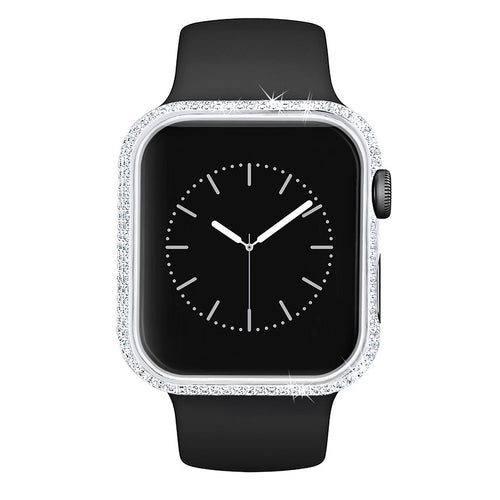 Iced Apple Watch Cover for Apple Watch Series 5/4 in White Gold-krkcom