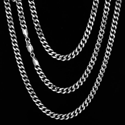 5.5mm Miami Cuban Link Chain Set in White Gold-krkcom