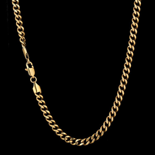 5.5mm Miami Cuban Link Chain in 14K Gold-KRKC&CO