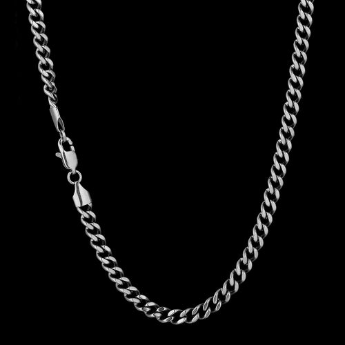 5.5mm Miami Cuban Link Chain in White Gold-KRKC&CO