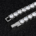 3mm Tennis Bracelet White Gold Plated-krkcom