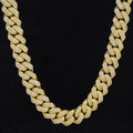 18mm Iced Cuban Link Chain 14K Gold Plated-krkcom