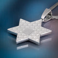 Iced Star Of David White Gold Multicolored Pendant-krkcom