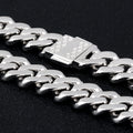 12mm Iced Cuban Chain in White Gold-KRKC&CO