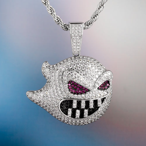 Iced Ghost Pendant in White Gold