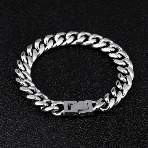 10mm Miami Cuban Link Bracelet White Gold Plated-krkcom