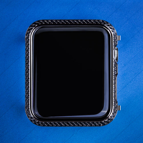 Black Gold Iced Out Apple Watch Cover for Apple Watch Series 3/2/1-krkcom