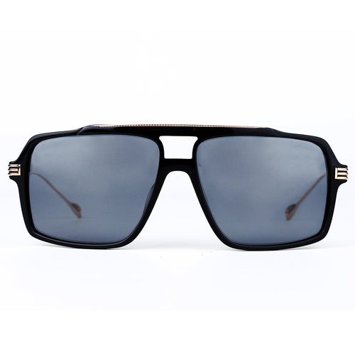Black Mirrored Aviator Polarized Sunglasses KR1006-krkcom