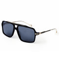 Black Mirrored Aviator Sunglasses for Men KR1006-krkcom