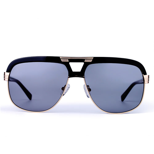 (Presale)Black Oversized Mirrored Sunglasses KR1004-krkcom