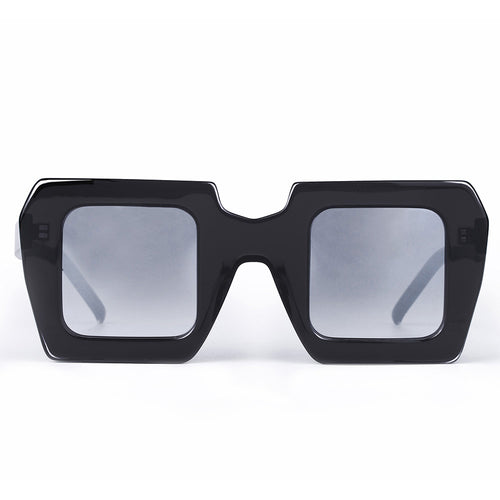 Grey Hip-Hop Square Sunglasses KR1013-krkcom
