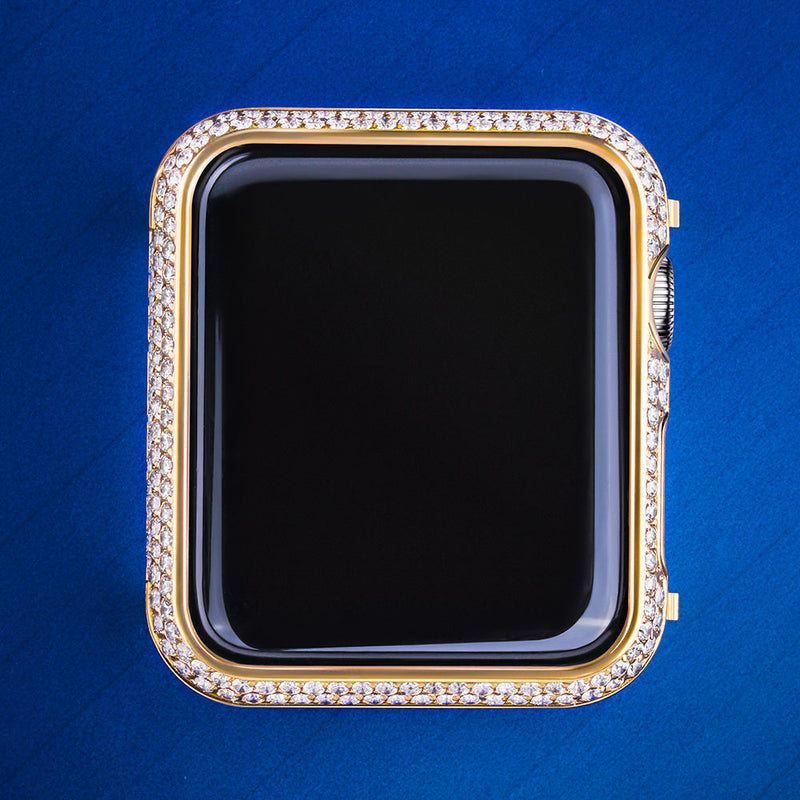 Iced Apple Watch Cover for Apple Watch Series 3/2/1 14K Gold Plated-krkcom