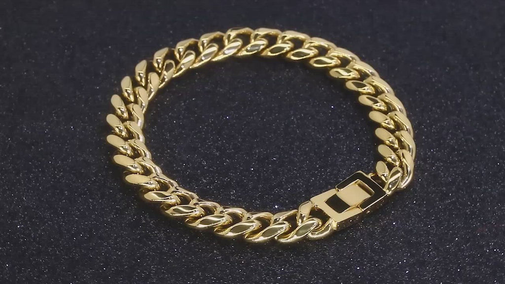 10mm Miami Cuban Link Bracelet in 18K Gold - BOGO KRKC