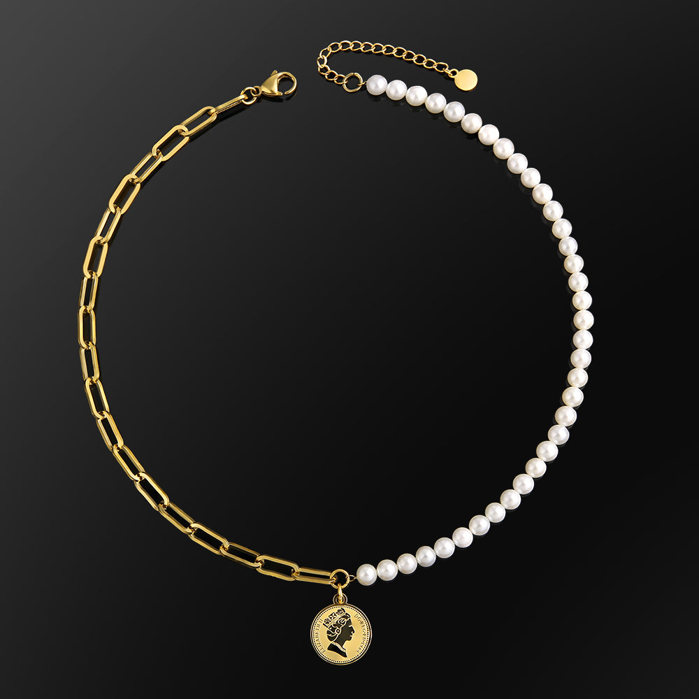 cable pearl necklace