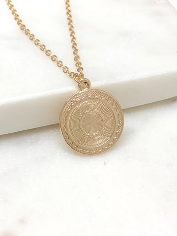 Detailed Coin Necklace