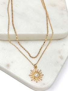 Sunburst Layered Necklace