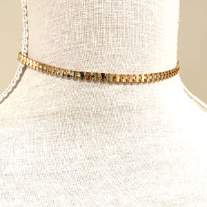 Choker Style Necklace Gold