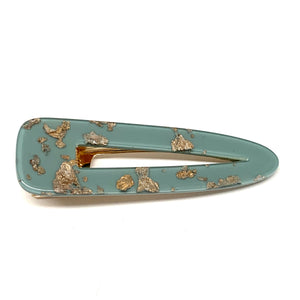 Smokey Blue Gold Fleck Tapered Hair Clip